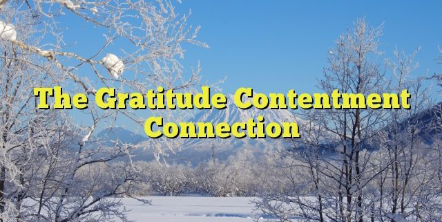 The Gratitude Contentment Connection
