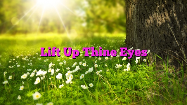 Image result for lift up thine eyes